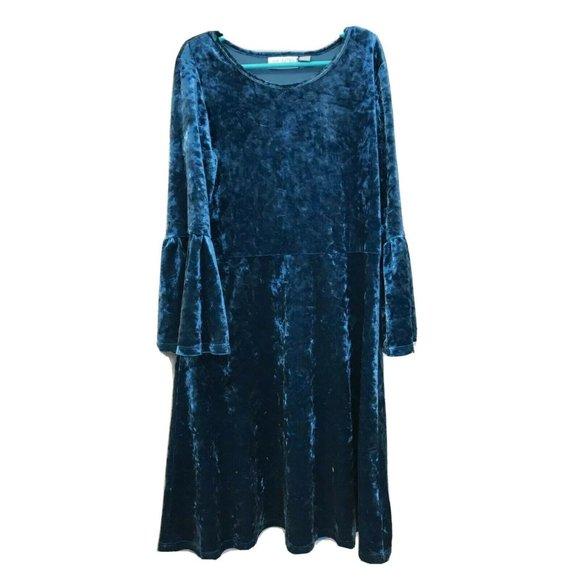 Place Crushed Velvet girls dress XL 14 pullover